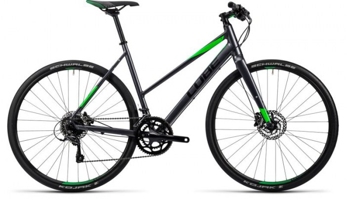 Cube SL Road Pro grey black flashgreen 2016 Trapeze 52 cm