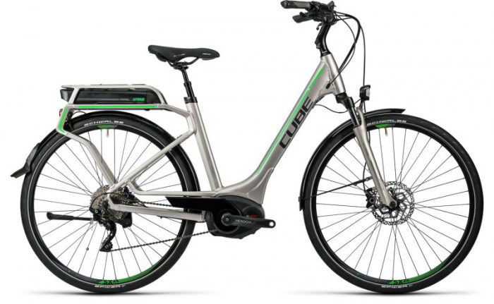 Cube Touring Hybrid Pro 500 silver´n´flashgreen 2016 Easy Entry 46 cm